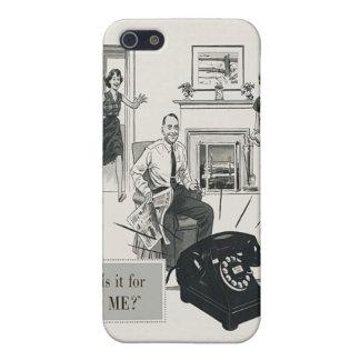 Retro Telephone Ad Family Midcentury Modern iPhone 5 Cases