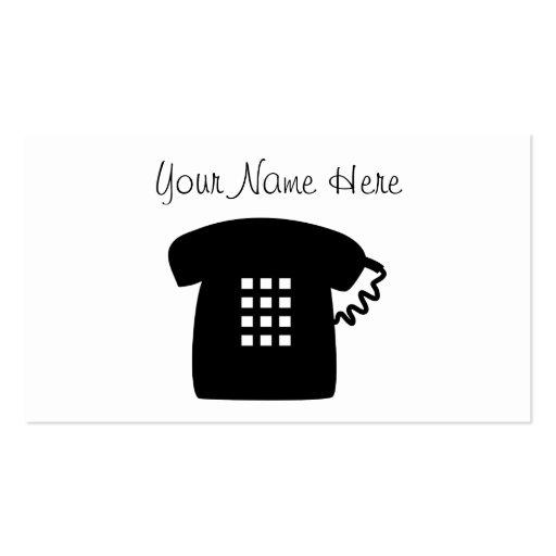 Retro Telephone Business Cards