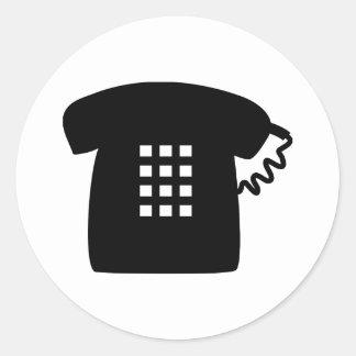 Retro Telephone Classic Round Sticker