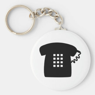 Retro Telephone Keychain