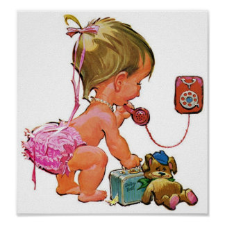 Retro Telephone Toddler Posters