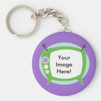 Retro Television ~ Add your Photo!! Key Chains