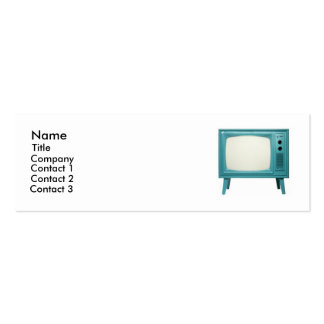 Retro Television Double-Sided Mini Business Cards (Pack Of 20)