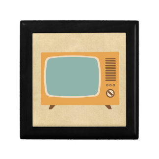 Retro Television Set Jewelry Box