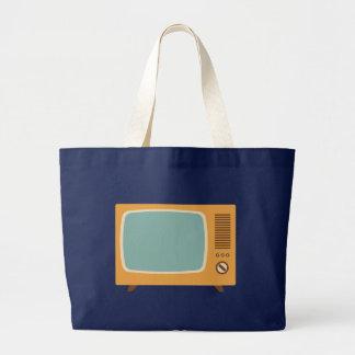 Retro Television Set Large Tote Bag