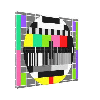 'Retro television' wrapped canvas Canvas Print