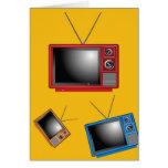 Retro Televisions Greeting Card