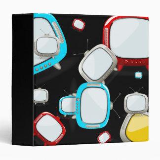 Retro Televisions Pattern Vinyl Binder
