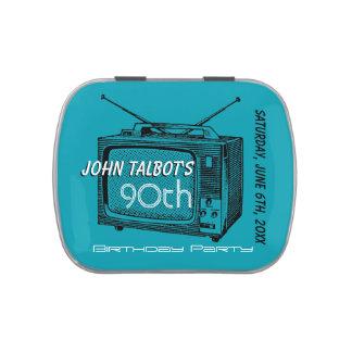 Retro Televisor 90th Birthday Thank You candy Tin