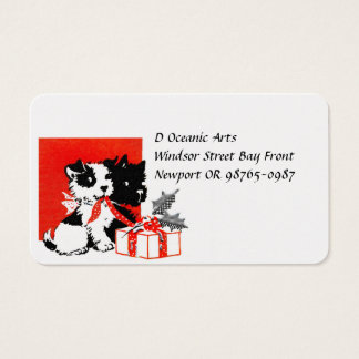 Retro Terrier and Scotty Dogs Business Card