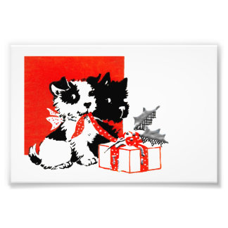 Retro Terrier and Scotty Dogs Photo Print