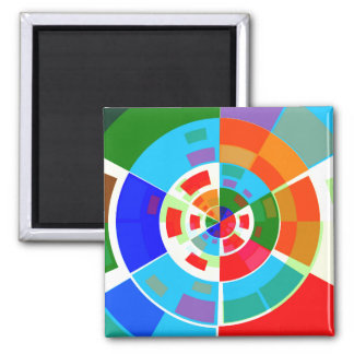 Retro Test Pattern 2 Inch Square Magnet