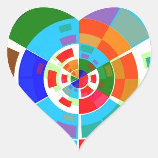 Retro Test Pattern Heart Sticker