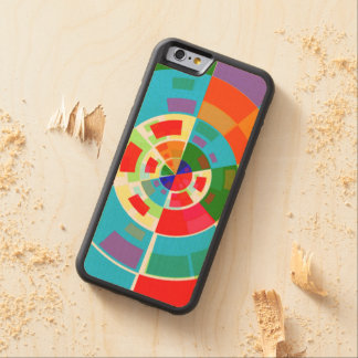 Retro Test Pattern Carved® Maple iPhone 6 Bumper Case