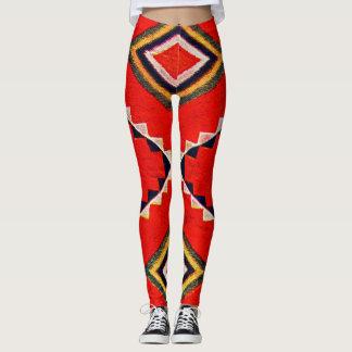 Retro Textile Design 1900 a Leggings