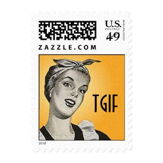 Retro TGIF Suburban Suburbia Housekeeping Stamps