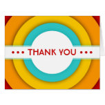 retro THANK YOU Large Greeting Card