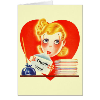Retro Thank You note Cards Add a sentiment inside