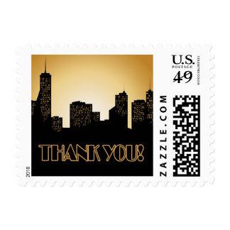 Retro Thank You Postage Stamps