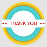 retro THANK YOU Round Sticker