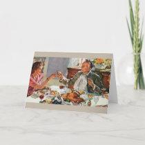 Retro Thanksgiving Dinner Greeting Card