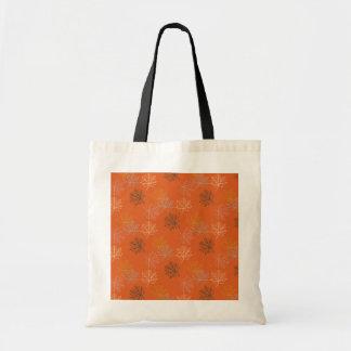 Retro Thanksgiving Fall Autumn Leaves Budget Tote Bag