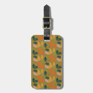 Retro Thanksgiving Fall Autumn Leaves Tags For Luggage