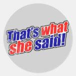 Retro That's What She Said Sticker