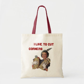 RETRO THE HAPPY COUPON CLIPPER BAGS TOTE BAG