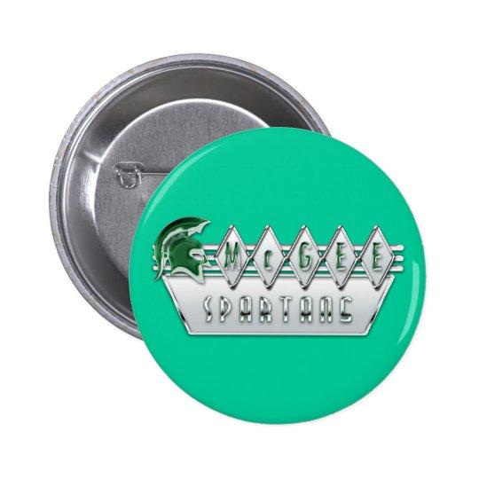 Retro Themed McGee Logo #4A Pinback Button
