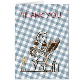 Retro themed Thank You card