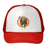Retro Thor Character Graphic Hats