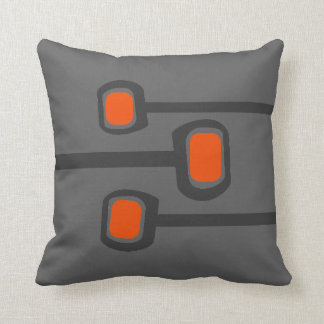 Retro Throw Pillow - (Custom Background Color)
