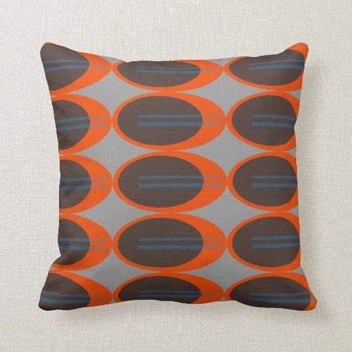 Retro Throw Pillows (Custom Background Color) Zazzle