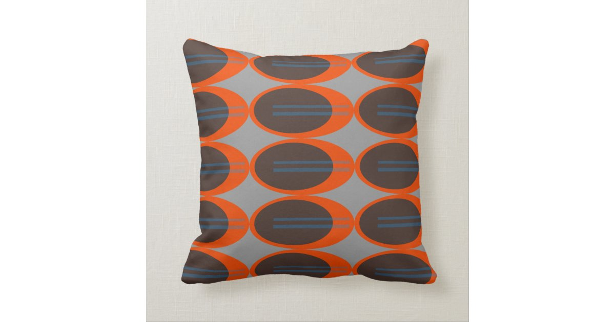 Custom Down Throw Pillows : Retro Throw Pillows (Custom Background Color) Zazzle