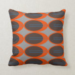 Retro Throw Pillows (Custom Background Color)