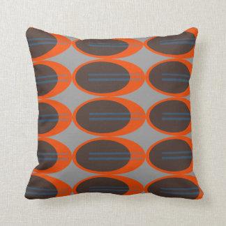 Retro Throw Pillows (Custom Background Color)