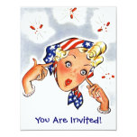 Retro Throwing Fire-Cracker Of a Party Invitation