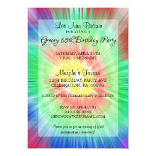Tie Dye Party Invitations Announcements Zazzle