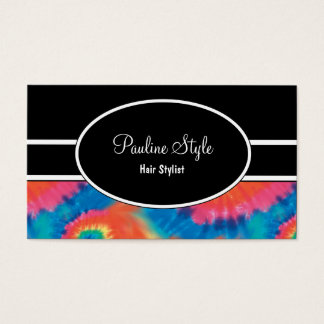 Retro Tie Dye Business Cards