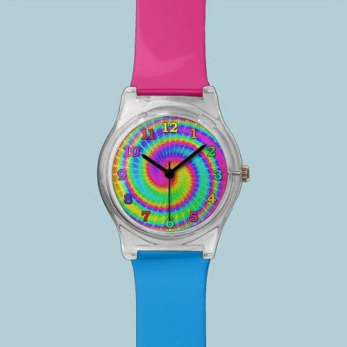 Retro Tie Dye Hippie Psychedelic 2 Watch