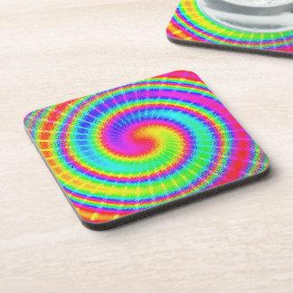 Retro Tie Dye Hippie Psychedelic Beverage Coaster