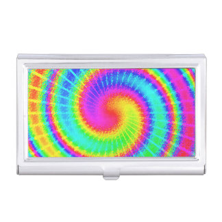 Retro Tie Dye Hippie Psychedelic Case For Business Cards