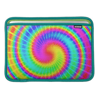 Retro Tie Dye Hippie Psychedelic MacBook Sleeves