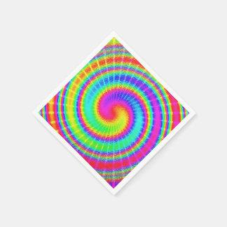 Retro Tie Dye Hippie Psychedelic Napkin