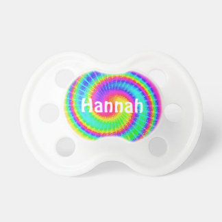 Retro Tie Dye Hippie Psychedelic Baby Pacifiers