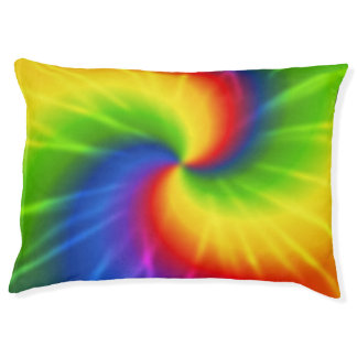 Retro Tie Dye.jpg Pet Bed