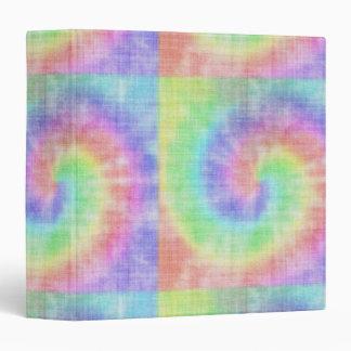 Retro Tie Dye Pastel Pattern Swirl Binder