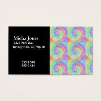 Retro Tie Dye Pastel Pattern Swirl Business Card