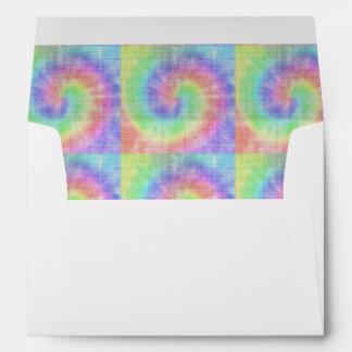 Retro Tie Dye Pastel Pattern Swirl Envelope